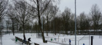 sneeuw op de baan